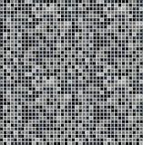 Black seamless mosaic Stock Photo