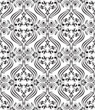 Black seamless ornamental wallpaper Royalty Free Stock Images