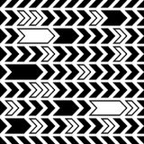 Black seamless pattern abstract arrows design Royalty Free Stock Photo