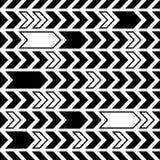 Black seamless pattern abstract arrows design. Black creative vintage seamless pattern abstract arrows design stock illustration