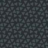 Black seamless pattern with geometric ornament Stock Image