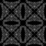 Black seamless pattern with light elements - eps Stock Images