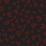 Black seamless pattern with red butterflies in hand-drawn style. Use as background image, computer wallpaper or textile print Royalty Free Stock Photography