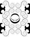 Black seamless pattern Royalty Free Stock Image