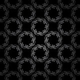 Black seamless pattern with silver elements - vector Royalty Free Stock Photo