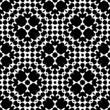 Black seamless pattern in white background Stock Images