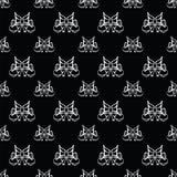 Black seamless pattern Stock Photos