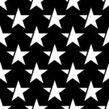 Black seamless pattern with white star. vector stock photography