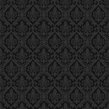 Black seamless royal background Stock Images