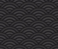 Black seamless texture Asian style vector backgrou. Nd. Can be used in cover design, book design, website background, CD cover, advertising Stock Photo