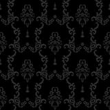 Black Seamless vintage background. Baroque floral Pattern Royalty Free Stock Photography