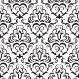 Black seamless wallpaper. Seamless ornamental wallpaper, floral pattern, illustration Royalty Free Stock Photos