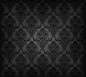 Black seamless wallpaper pattern Stock Images