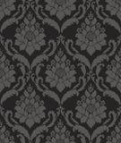 Black Seamless wallpaper pattern Royalty Free Stock Images