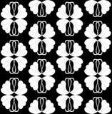 black seamless wallpaper white Στοκ Φωτογραφία