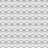 Black seamless wavy abstract pattern vector illustration Royalty Free Stock Photography