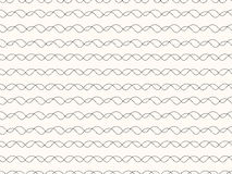Black seamless wavy line pattern  illustration Royalty Free Stock Images