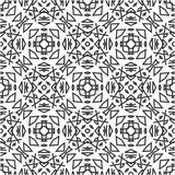 BLACK SEAMLESS WHITE BACKGROUND PATTERN royalty free stock image