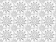 black seamless white för den blom- modellen royaltyfri illustrationer