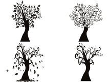 Black season tree Royalty Free Stock Images