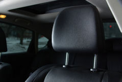 Black seat in a car Stock Image