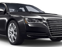 Black sedan car Stock Image