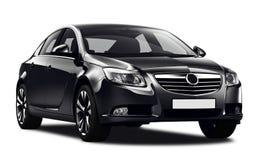 black sedan. Car on white background Royalty Free Stock Photo