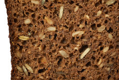 Black seeds bread texture Stock Images