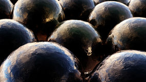 Black Semi Liquid Balls Royalty Free Stock Photos