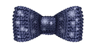 Black sequins bow tie. Stock Photography