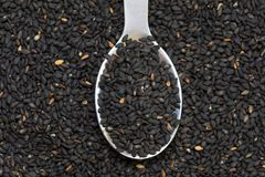 Black sesame Stock Image