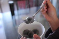 Black Sesame Dumpling Stock Images