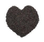Black Sesame Heart Stock Photography