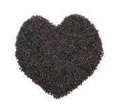 Black Sesame Heart stock photography