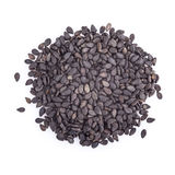 Black sesame isolated on a white background Stock Photo