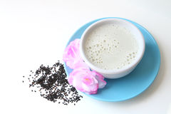 Black sesame milk Royalty Free Stock Photo
