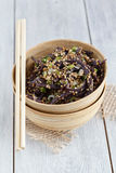 Black Sesame Noodles Royalty Free Stock Images