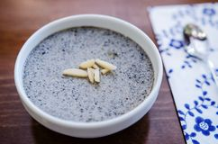 Black sesame pudding Royalty Free Stock Photos