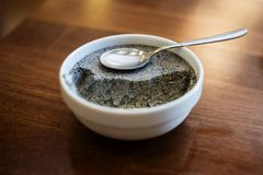 Black sesame pudding Stock Image