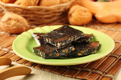 Black sesame rice cake Stock Photography