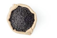 Black sesame in the sack Stock Image