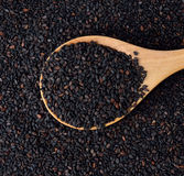 Black sesame seed Stock Photos