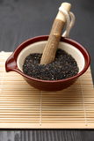Black sesame seed Royalty Free Stock Photos