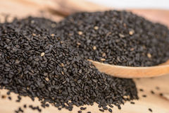 Black sesame seeds Stock Photos