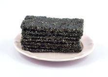 Black sesame sugar Stock Images