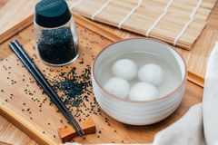 Black sesame sweet dumplings photos royalty free stock image