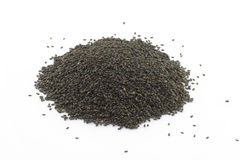 Black sesame on white background Stock Photo