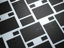 Black set of branding elements Royalty Free Stock Photography