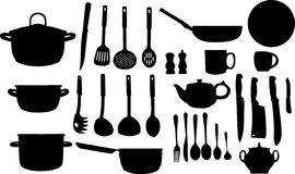 black set silhouettesware Royaltyfri Foto