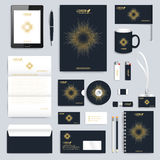 Black set of vector corporate identity template Royalty Free Stock Photography